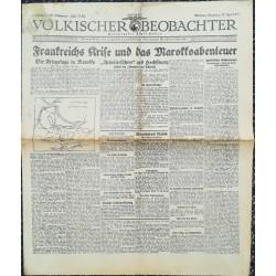 10761 Kampfzeit VÖLKISCHER BEOBACHTER No. 75 27.Juni 1925 Frankreichs Krise und das Marokkoabenteuer