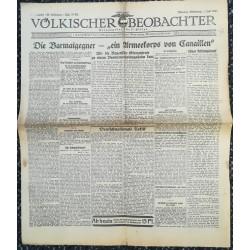 10763 Kampfzeit VÖLKISCHER BEOBACHTER No. 78 1.Juli 1925 Die Barmatgegner - ein Armekorps von Canaillen