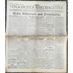 10764 Kampfzeit VÖLKISCHER BEOBACHTER No. 80 3.Juli 1925 Weder Völkerbund, noch Sowjetjudäa
