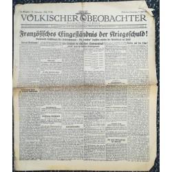 10765 Kampfzeit VÖLKISCHER BEOBACHTER No. 81 4.Juli 1925 Französisches Eingeständnnis der Kriegsschuld