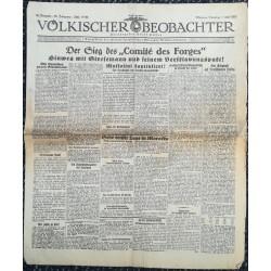 """10767 Kampfzeit VÖLKISCHER BEOBACHTER No. 83 7.Juli 1925 Der Sieg des Comité des Forges"""""""
