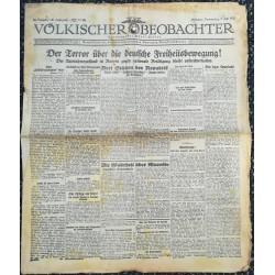 10769 Kampfzeit VÖLKISCHER BEOBACHTER No. 85 9.Juli 1925 Terror über die deutsche Freiheitsbewegung