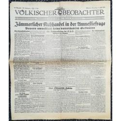 10770 Kampfzeit VÖLKISCHER BEOBACHTER No. 87 11.Juli 1925 Jämmlicher Kuhhandel in der Amnestiefrage
