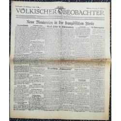 10771 Kampfzeit VÖLKISCHER BEOBACHTER No. 89 14.Juli 1925 Neue Meuterei in der französischen Flotte, Adolf Hitler in Württem