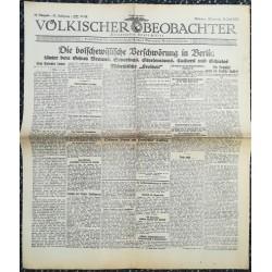 10772 Kampfzeit VÖLKISCHER BEOBACHTER No. 90 15.Juli 1925 Die bolschewistische Verschwörung in Berlin