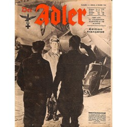 0795	 DER ADLER	 -No.	3	-1944 French edition/ edition francaise	 vintage German Luftwaffe Magazine Air Force WW2 WWII