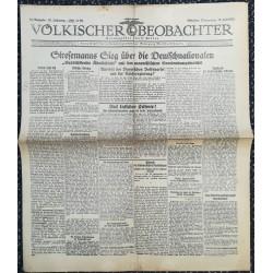 10773 Kampfzeit VÖLKISCHER BEOBACHTER No. 91 16.Juli 1925 Stresemanns Sieg über die Deutschnationalen