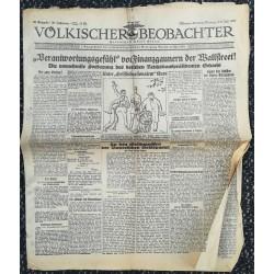 """10766 Kampfzeit VÖLKISCHER BEOBACHTER No. 82 5./6.Juli 1925 """"Verantwortungsgefühl von Finanzgaunern der Wallstreet"""