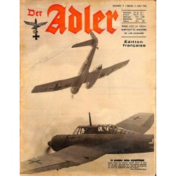 0796 DER ADLER -No.11-1942 French edition/ edition francaise vintage German Luftwaffe Magazine Air Force WW2 WWII