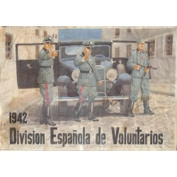 10517	 Poster Division Azul	 German soldiers 1942  car