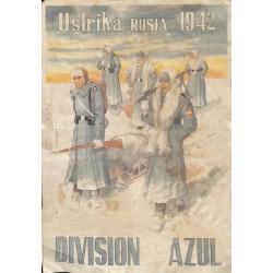 10538 Poster Division Azul Ustrika Russia 1942 winter