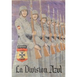 10540	 Poster Division Azul	 soldiers rifles uniforms