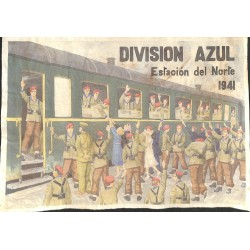 10558	 Poster Division Azul	 Estacion del Norte 1941 train station