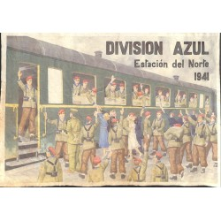 10559	 Poster Division Azul	 Estacion del Norte 1941 train station