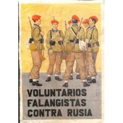 10560 Poster Division Azul Voluntarios Falangistas Contra Rusia soldiers Russia