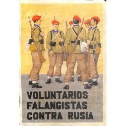10561 Poster Division Azul Voluntarios Falangistas Contra Rusia soldiers Russia