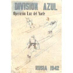 10562 Poster Division Azul Operacion Luz del Norte  Russia 1942