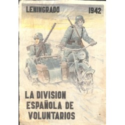 10564	 Poster Division Azul	 Leningrad 1942 Russia motorcycle soldiers