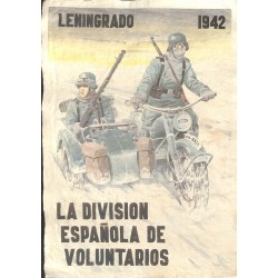 10565	 Poster Division Azul	 Leningrad 1942 Russia motorcycle soldiers	 size 41.5 x 29 cm, looks great in a frame