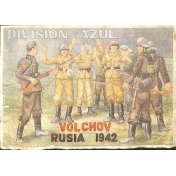 10566	 Poster Division Azul	 Volchov Russia 1942 captured soldiers