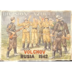 10567	 Poster Division Azul	 Volchov Russia 1942 captured soldiers