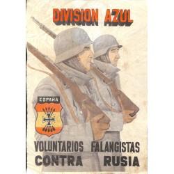 10572 Poster Division Azul soldiers Voluntarios Falangistas Contra Russia
