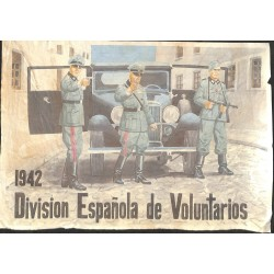 10576	 Poster Division Azul	 1942 car soldiers uniforms Division Espanola de Voluntarios