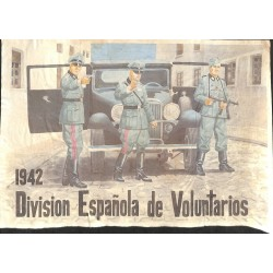 10577	 Poster Division Azul	 1942 car soldiers uniforms Division Espanola de Voluntarios