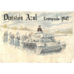 10579	 Poster Division Azul	 Russia winter Leningrad 1942 tank soldiers