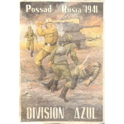 10581	 Poster Division Azul	 Possad Russia 1941 fighting soldiers