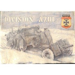 10588	 Poster Division Azul	 field canon winter Russia soldiers