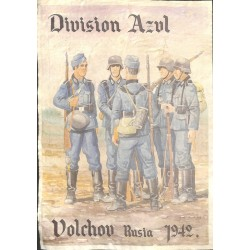 10593	 Poster Division Azul	 Volchov Russia 1942 soldiers