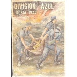 10598	 Poster Division Azul	 ammunition grnades soldiers Russia 1942