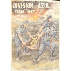 10599	 Poster Division Azul	 ammunition grnades soldiers Russia 1942