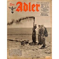 0803 DER ADLER -No.22-1942 French edition/ edition francaise vintage German Luftwaffe Magazine Air Force WW2 WWII