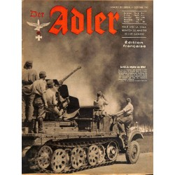 0804 DER ADLER -No.20-1942 French edition/ edition francaise vintage German Luftwaffe Magazine Air Force WW2 WWII
