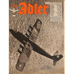 0806	 DER ADLER	 -No.	6	-1944 Europe edition	 vintage German Luftwaffe Magazine Air Force WW2 WWII