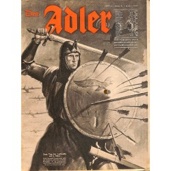 0807	 DER ADLER	 -No.	5	-1944 Europe edition	 vintage German Luftwaffe Magazine Air Force WW2 WWII