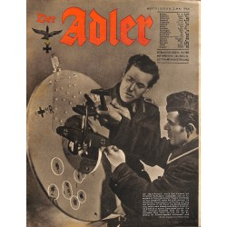 0808	 DER ADLER	 -No.	9	-1944 Europe edition	 vintage German Luftwaffe Magazine Air Force WW2 WWII