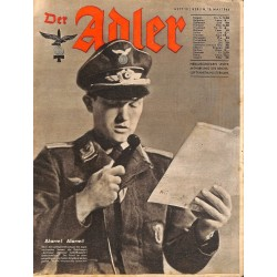 0810	 DER ADLER	 -No.	10	-1944 Europe edition	 vintage German Luftwaffe Magazine Air Force WW2 WWII
