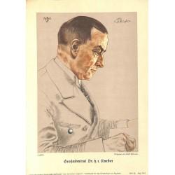 10354 Third Reich print  Wolf Willrich Grossadmiral Dr.h.r. Raeder, printed 1941