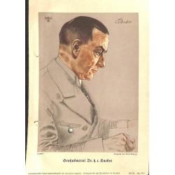 10353 Third Reich print  Wolf Willrich Grossadmiral Dr.h.r. Raeder, printed 1941