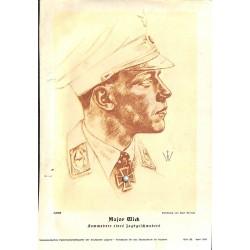 10352 Third Reich print  Wolf Willrich Major Wick Luftwaffe Knight's Cross Holder, Kommodore eines Jagdgeschwaders