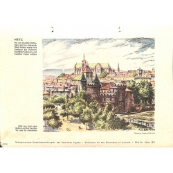 10351	 Third Reich print 	 Metz/France, painting by Reimesch