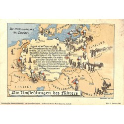 10350 Third Reich print  German Third Reich migrations, the movements of the Germans, printed 1941