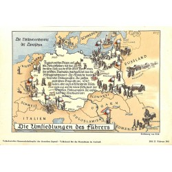 10349 Third Reich print  German Third Reich migrations, the movements of the Germans, printed 1941