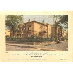 10348 Third Reich print  German houses in Budapest/ Hungary, printed 1941