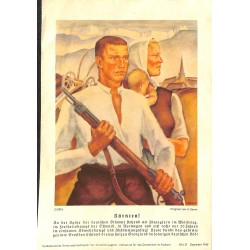 10346	 Third Reich print 	 Kärnten /Austria farmers,the Ostmark in the fight of Independence, printed 1940