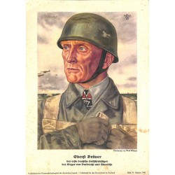 10342	 Third Reich print 	 Wolf Willrich, paratrooper Oberst Bräuer Knight's Cross Holder, Dordrecht and Moerdijk,printed 1940