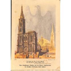 10341 Third Reich print  Strassburg Dome Reich Eagel in background, painting by Erik, printed 1940